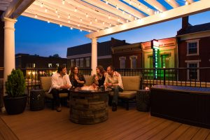 Outdoor Veranda at our downtown Lexington, Va. Hotel